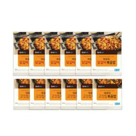 마무리볶음밥3종(닭갈비/고깃집/훈제오리) 12개(각4개)