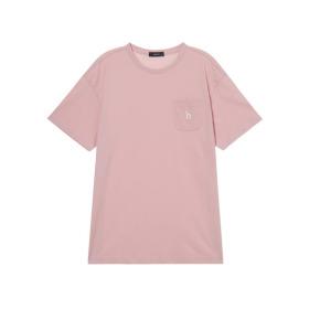 20SS 핑크 포켓배색 면 반팔티셔츠 WHTS0B129P2