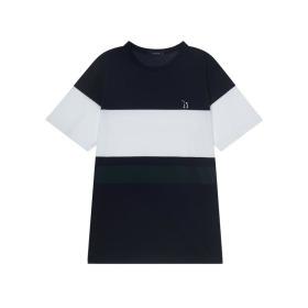 20SS 네이비 컬러블록 면 반팔티셔츠 WHTS0B124N2