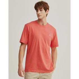 20SS 핑크 퍼피자수 면 반팔티셔츠 WHTS0B901P2