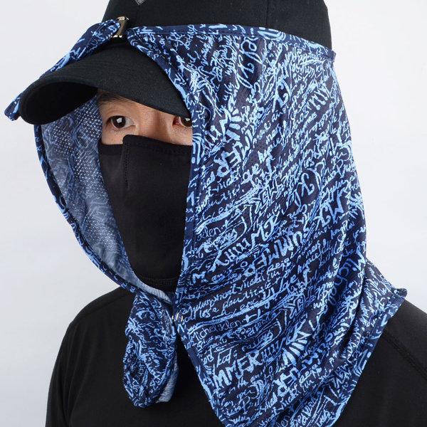 모자 부착형 여름 자외선차단 얼굴 햇빛가리개 스카프 상품이미지