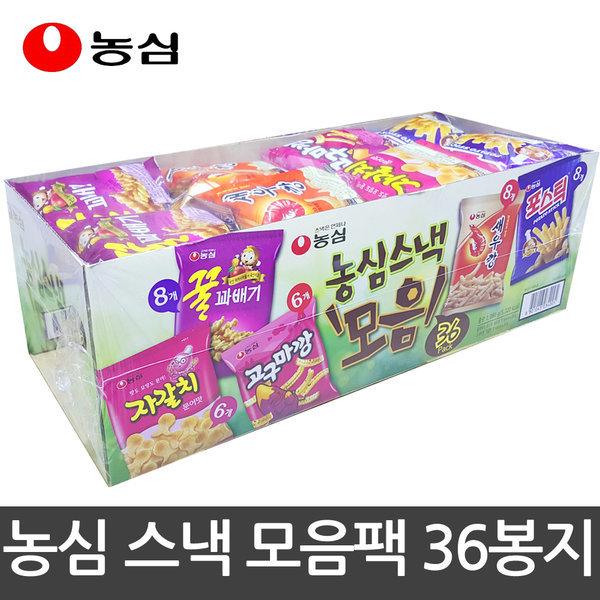 농심 스낵 모음 5종 36팩 과자세트 스낵세트 새우깡 상품이미지