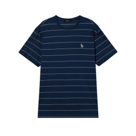 20SS 블루 스트라이프 면 반팔티셔츠 WHTS0B562B3