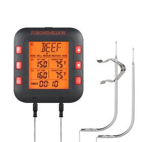 듀얼 탐침 고기온도계 바베큐 음식 심부 요리용  FM800