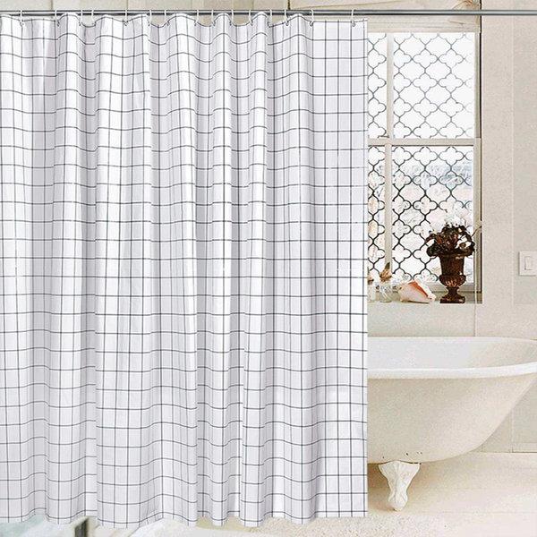 어바트 욕실 샤워커튼 체크형(180x180) 상품이미지