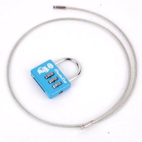 롱와이어타입사각번호키 자물쇠 번호열쇠 잠금장치
