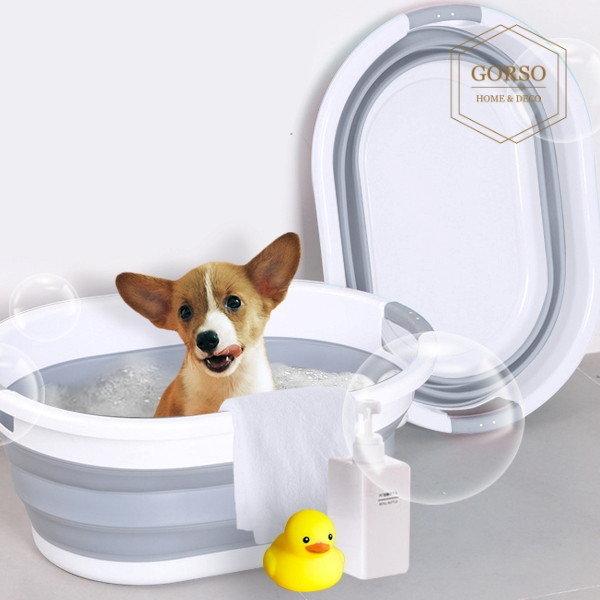 고르소 강아지 접이식 욕조 반려동물 애견욕조 - 중 상품이미지