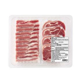 냉동_돼지삼겹살 목심반반팩_1 kg 팩