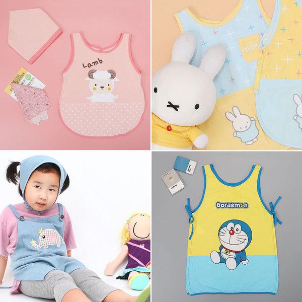 유아앞치마두건세트 아동 어린이집 유아미술가운 방수 상품이미지
