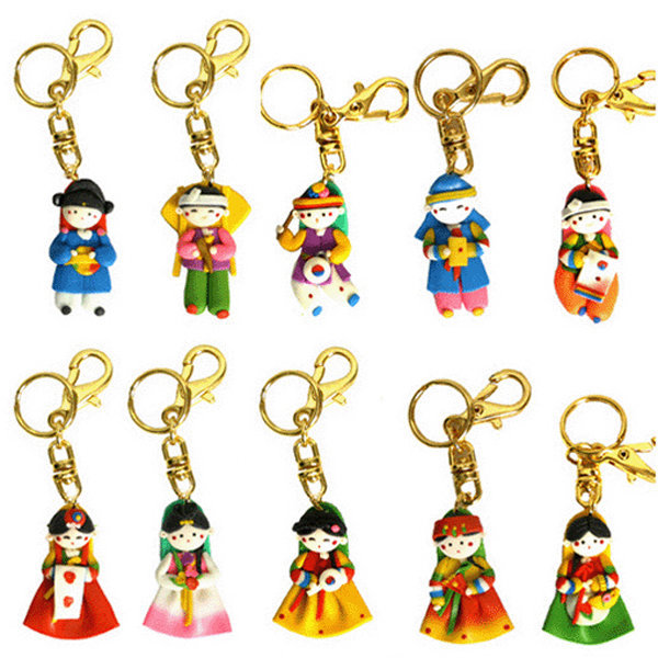 Korean Traditional Figure colormix Key Ring(10pcs) 상품이미지