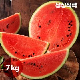 싱싱식탁  고당도 원두막 꿀수박(7kg) /프리미엄 과일