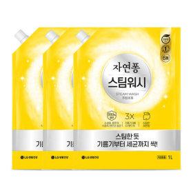 자연퐁 스팀워시 주방세제 레몬향 1L x3