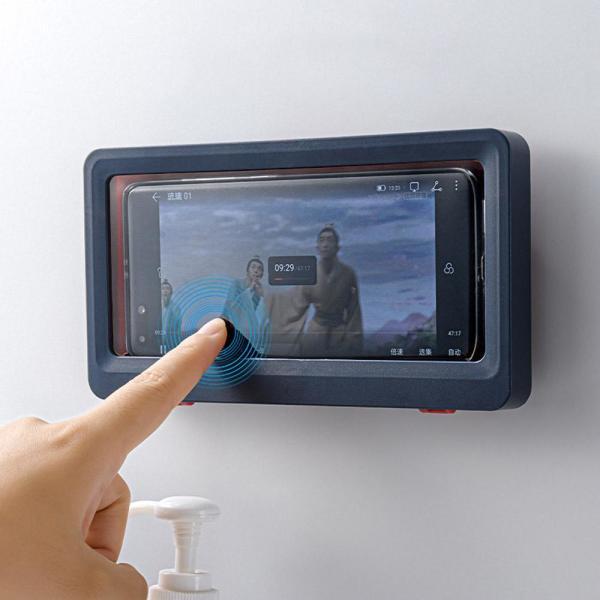 벽 부착형 욕실 핸드폰 거치대 스마트폰 방수 거치대 상품이미지