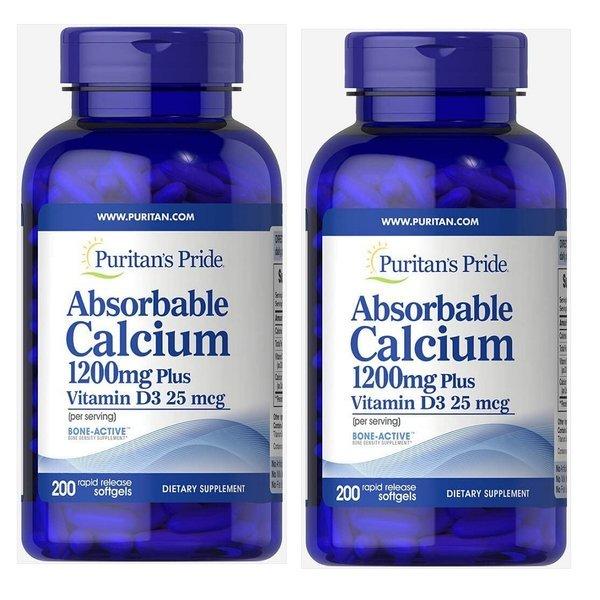 퓨리탄 프라이드 흡수 칼슘 1200mg 200캡슐 1개 상품이미지