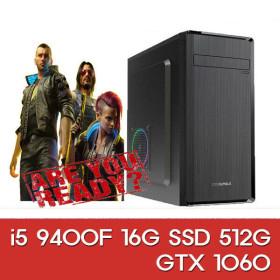 리뉴얼 i5 9400F 16G 512G 1060 조립컴퓨터 게이밍PC
