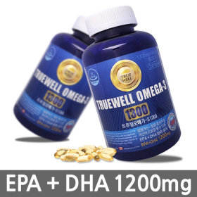 [TRUEWELL] Platinum omega-3 1300  / 180 tablets (6 months) / health supplement /