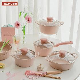 NEOFLAM Sherbet Cookware IH Pot 4P Set