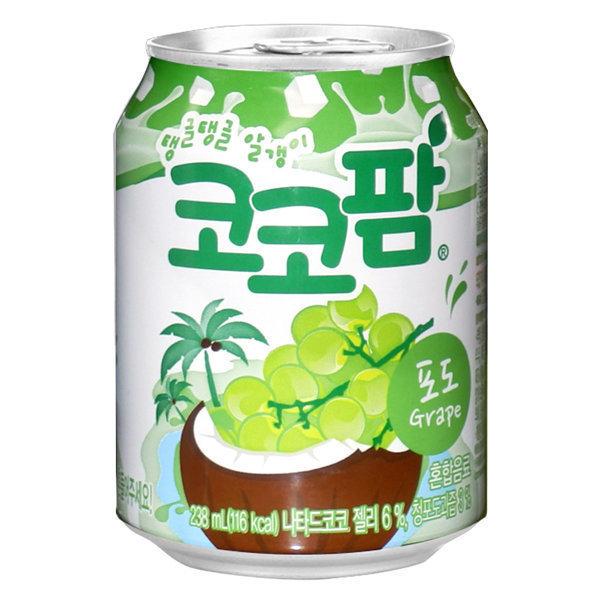 해태 코코팜 포도 238ml 24캔 캔음료 음료수 상품이미지