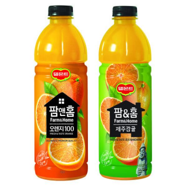롯데)팜앤홈오렌지+제주감귤1.2L 2기획 상품이미지