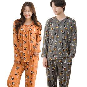 디즈니 남녀 피치기모 잠옷 상하세트 커플 파자마 V1