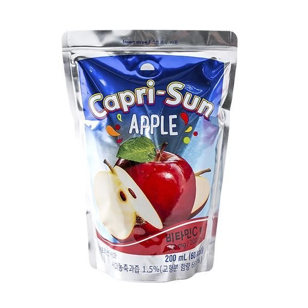 맛있는 농심 카프리썬 사과 200ml 과즙음료 음료수 유 상품이미지