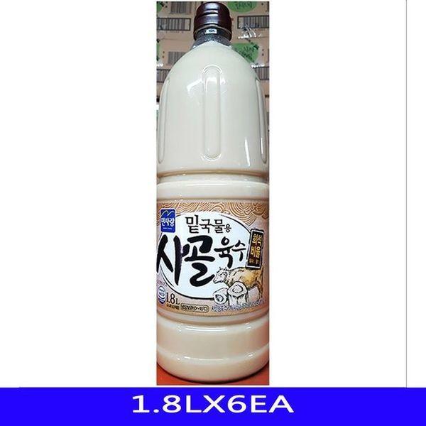 (제이큐) 업소용 밑국물용 사골육수 면사랑 1.8LX6EA 상품이미지