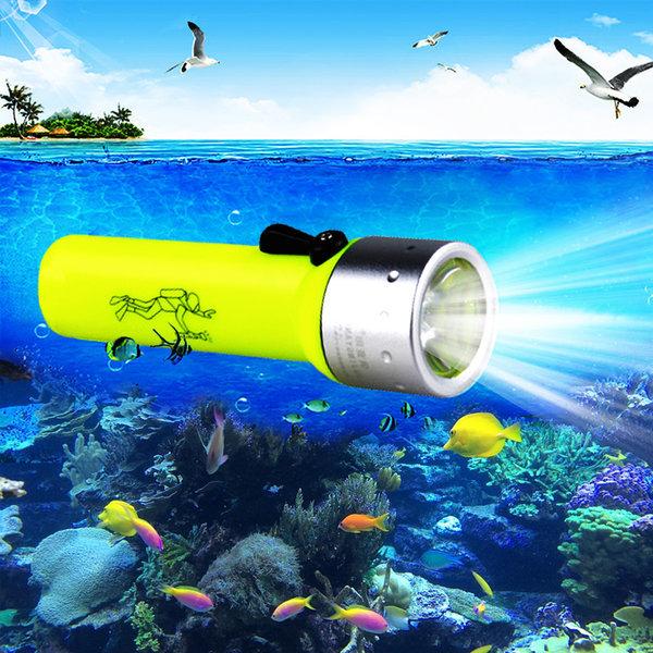 잠수 후레쉬 다이빙 수중 랜턴 스노쿨링 방수 해루질 상품이미지