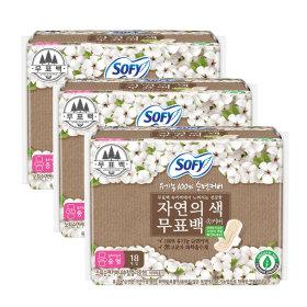 바디피트 유기농무표백 중형 18Px3개(54P)