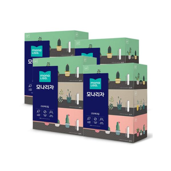 미용티슈 (250매3입)X4개 화장지 휴지 상품이미지