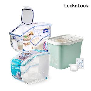 [락앤락]쌀통10kg 계량컵+제습제 잡곡통 밀폐용기 쌀독