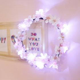 VIA K studio Cherry Blossom Wreath LED Mood Light