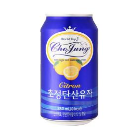 초정탄산수 유자 350ml 24개 캔/ 음료수 탄산음료