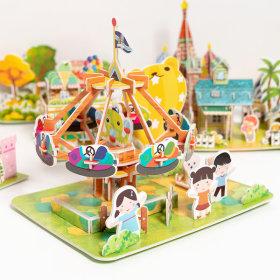 3D 입체 퍼즐 어린이 유아 만들기 종이 조립 장난감