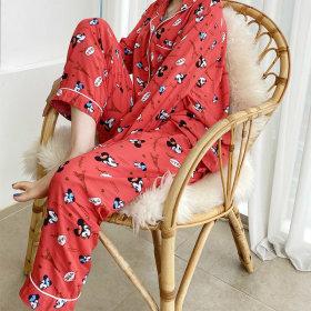 디즈니 미키 여성 레이온 파자마 긴팔잠옷 상하세트 V1