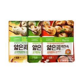 풀무원 얇은피만두 고기2봉+김치2봉+고기깻잎2봉