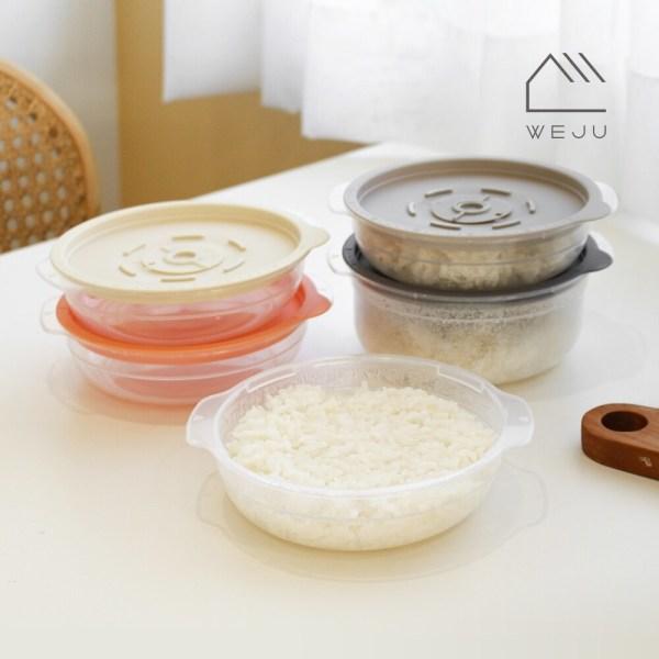 위주 스팀 냉동밥 전자레인지 조리용기 450ml 6개+600ml 5개 상품이미지