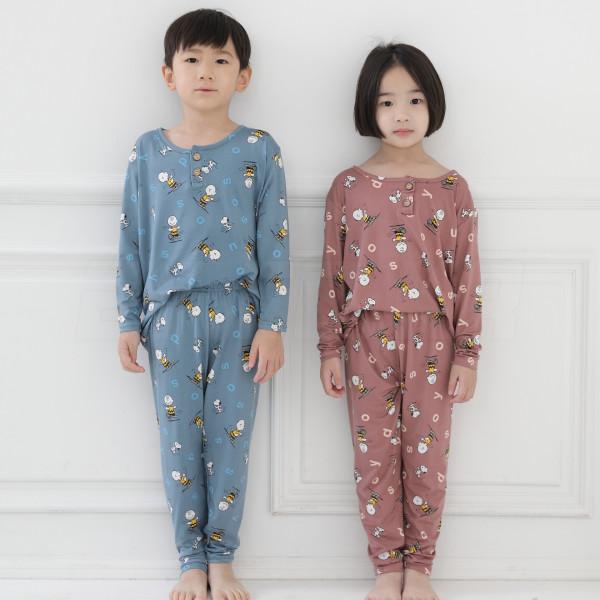 스누피 아동 피치기모 파자마 잠옷 실내복 내의 V1 상품이미지