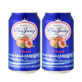 초정탄산 복숭아 350ml 24캔 2박스 총48캔 음료수