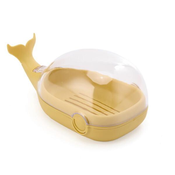 굿즈트리 뚜껑있는 고래 비누받침대(옐로우) 상품이미지