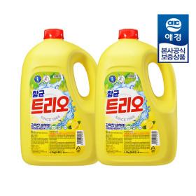 [Aekyung] Trio dishwashing liquid 14 kg/ 4.2 kg x 2 / antibacterial /