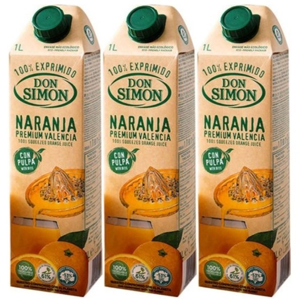 돈시몬 착즙 오렌지 주스 1L X3 무료배송 상품이미지