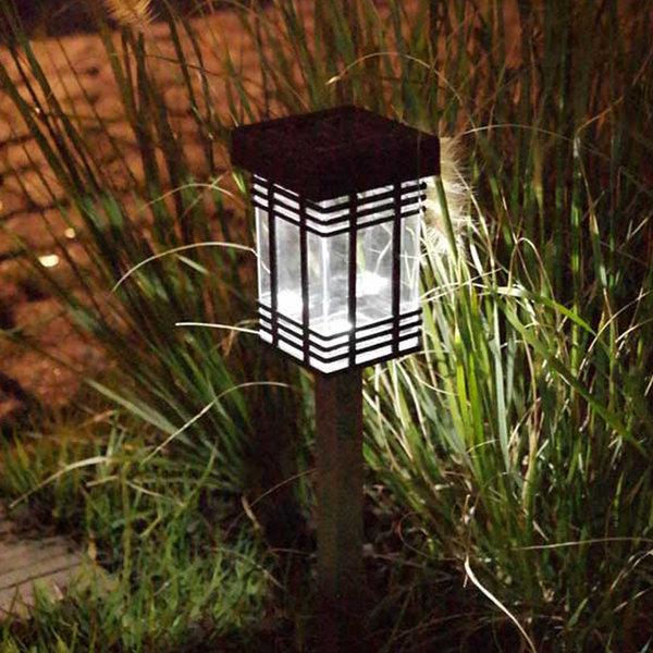 태양광LED정원등 태양열 야외조명센서 고풍사각 상품이미지