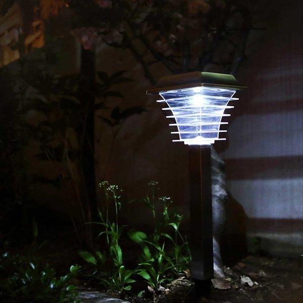 태양광 LED정원등 태양열 조명 잔디등 실버사각 상품이미지