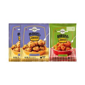 치킨 순살크리스피 550g x2 + 양념치킨 550g