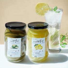 1+1 첨가물없는 수제과일청  레몬청 500g+청귤청 500g