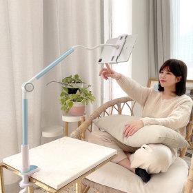 CF-1000 핸드폰 태블릿 침대 책상 자바라 거치대 블루