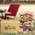 캠핑용품 캠프파이어 불멍 땔감 참나무 장작 20kg