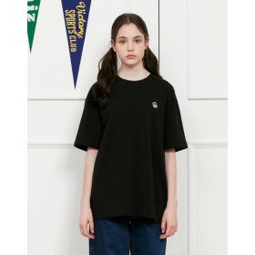 21SS  남녀공용  블랙 헤지스 PHIZ 스몰로고 티셔츠 SPTS1E216BK