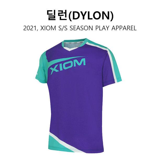 엑시옴 탁구티셔츠 - 딜런 (DYLON) 퍼플-기능성티셔츠 상품이미지