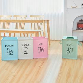 가정용 재활용 분리수거함 4P 중형/ 비닐 쓰레기